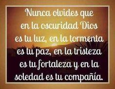 Nunca olvides que en la oscuridad de Dios es tu luz - † Imágenes con Frases de Bendiciones y Cristianas †
