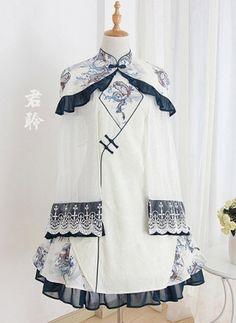Pretty Outfits, Pretty Dresses, Beautiful Outfits, Cool Outfits, Kawaii Dress, Kawaii Clothes, Old Fashion Dresses, Fashion Outfits, Dynasty Clothing