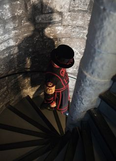I walked down the four flights of circular stairs at the Tower of London and was seriously dizzy when I got to the bottom!   London, England