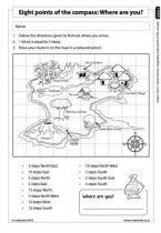 Grade 5 English: Social Sciences: Geography - Term 1 - World Map & Compass Directions - E-Classroom Social Science, Science And Technology, Map Compass, Life Skills, Geography, Classroom, Education, Math, School