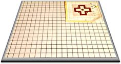 A needlepoint blocking board is a wood or fabric covered board with a printed grid of squares. This grid is used in blocking warped canvas into shape.