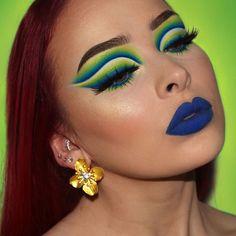 Unique Makeup, Creative Makeup Looks, Colorful Eye Makeup, Dramatic Eye Makeup, Eye Makeup Art, Beauty Makeup, Cool Makeup Looks, Pretty Makeup, Makeup Designs
