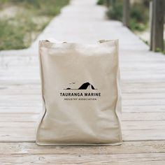 Branding for Tauranga Marine Industry Association on canvas tote bag. Business Branding, Logo Branding, Graphic Design Branding, Logo Design, Marines Logo, Showcase Design, Modern Logo, Design Agency, Canvas Tote Bags