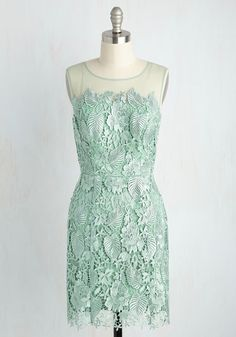 Collaborative Charm Dress. The allure of this pastel green dress is so powerful, you wont be able to wait for days spent styling it with your unique eye! #green #wedding #bridesmaid #modcloth