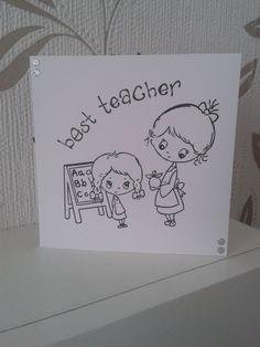 Best Teacher Card Thank You Teacher by JillsHiddenTreasures