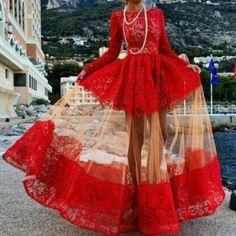 Elegant Jewel Neck Long Sleeve Floor-Length Lace Dress For Women