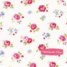 Pam Kitty Garden Pink Garden Floral Yardage <br/>SKU# LH14019B-PINK