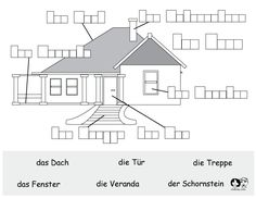 german printable worksheet house