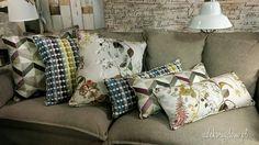 Kolorowe poduszki z tkanin PT