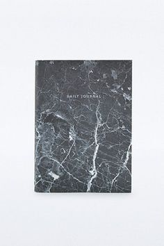 Agenda journalier marbre noir