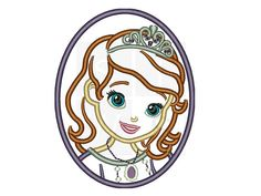 first princess sofie cameo applique Design by Sayitwithstitches1