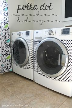 Polka Dot Washer & Dryer at GingerSnapCrafts.com #happycrafters #ad