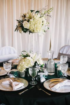 #emerald_green #mountain_wedding #white_flowers #silver_bling  Celebrations, #Durango Colorado Wedding Planner,  www.theeventpro.com