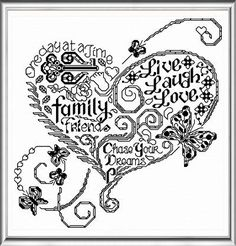 Lets Get a Tatoo - cross stitch pattern designed by Ursula Michael. Category: Words.