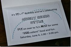 """Ty's Angry Birds """"Bird""""day Party was this weekend! Ty and I have spent weeks planning this party - the decorations, the food, th. Bird Birthday Parties, Birthday Ideas, Alphabet Magnets, Superhero Kids, Party Time, Birthdays, Cards Against Humanity, Birds, Bird"""