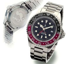Lm-5 dress diver with domed sapphire bezel wedding