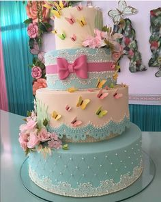 26 Best Birthday party cake & decor photos by jeetudhakouliya Birthday Cake Bakery, Send Birthday Cake, Birthday Cake Delivery, Pretty Cakes, Beautiful Cakes, Bolo Fack, Cake Name, Butterfly Cakes, Cake Online