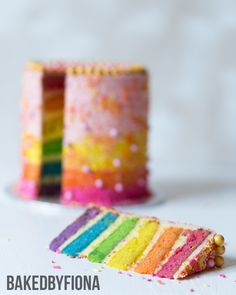 Sydney Cakes, Baked by Fiona Rainbow Cake #rainbowcake #sydneycakes