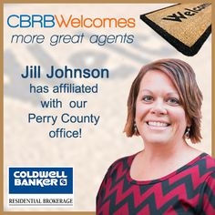 Jill Johnson has affiliated with our Perry County office - please welcome Jill!