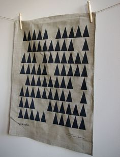 "Linen ""tree towel"" @ Spin Spin $21"