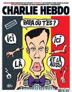Charlie Hebdo,  Illustre ses propos par des caricatures exagérées et appuyées ayant pour but d'impacter le public, les lecteurs.