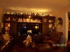 christmas houses christmas decorations for the home holiday decor center ideas light - Entertainment Center Christmas Decorating Ideas