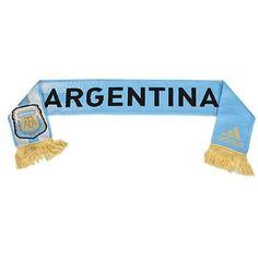 Argentina National Soccer Team Scarf by Adidas NWT AFA new with tags Football #Argentinia #AFA #LaAlbiceleste #Scarf #Adidas #Soccer #Football #NationalTeam #MarvelousMarvs