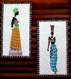 Mirror Mosaic, Mosaic Art, Mosaic Glass, Mosaic Crafts, Mosaic Projects, Art Projects, Afro Art, Origami Easy, Mosaic Patterns