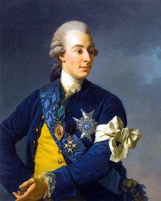Alexander Roslin — Portrait of Gustav III of Sweden, 1772 : National Museum of Fine Arts, Stockholm. Renaissance, 18th Century Costume, Swedish Royalty, Saint Esprit, European History, European Style, My Heritage, National Museum, Marie Antoinette