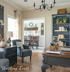 5 Basic Decorating Rules To Live By. 5 Basic Decorating Rules To Live By. House Color Palettes, Fresh Farmhouse, Farmhouse Office, Vintage Farmhouse, Farmhouse Style, Farmhouse Decor, Vintage Chairs, Classic House, French Country Decorating