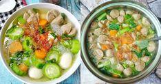 Sop jadi hidangan paling pas untuk makan siang. Asian Cooking, Easy Cooking, Cooking Recipes, No Dairy Recipes, Soup Recipes, Healthy Recipes, Healthy Food, Indonesian Food