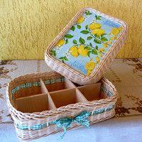 Krabice CITRON se šesti přihrádkami A box of LEMON with six compartments