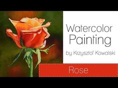 Watercolor painting - Rose - YouTube
