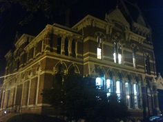 """The ('Haunted') Willard Library in Evansville, Indiana. """"The story of the gray lady began in 1937 when a janitor reported seeing a floating apparition of a woman in the boiler room…Over 1000 sightings have been recorded since 1937..."""""""