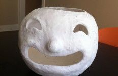 how to make your own paper mache jack o lantern