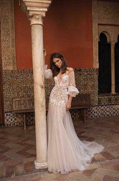 Berta Bridal Wedding Dresses: The Seville Collection! Wedding Dresses 2018, Wedding Dress Styles, Bridal Dresses, Lace Dresses, Bridal Collection, Dress Collection, Berta Bridal, Wedding Dress Sleeves, Mod Wedding