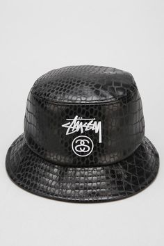 4c93e290257 Shop Stussy Croc Faux-Leather Bucket Hat at Urban Outfitters today.