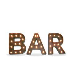 Iluminación Metálica Decorativa Letras BAR (Decoración metálica iluminada) - Sillas de diseño, mesas de diseño, muebles de diseño, Modern Classics, Contemporary Designs...