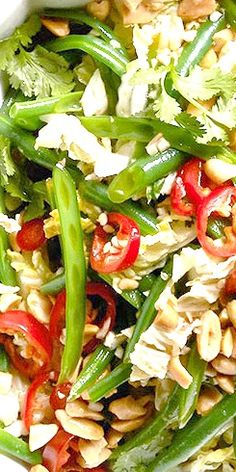 Zesty Green Bean Slaw - the perfect complement to a steak dinner