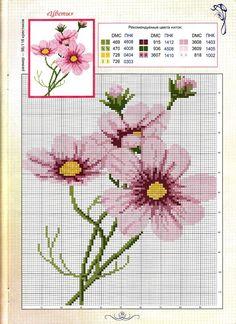Punto cruz Imagen encontrada en Pinterest Flores en punto cruz Cross stitch X stitch