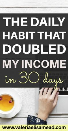 The daily habit that doubled my income in 30 days! Affiliate Marketing Jobs, Online Marketing, Mobile Marketing, Media Marketing, Make Money Online, How To Make Money, How To Become, Business Tips, Online Business