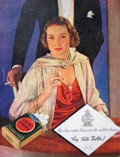 1934 Lucky Strike Cigarettes Vintage Advertisement Man Cave Wall Art Bar Decor 1930s Fashion Original Magazine Print Ad Ephemera by RelicEclectic on Etsy