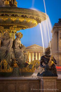 Fontaine des Fleuves at Place de la Concorde, Paris France. © Brian Jannsen Photography