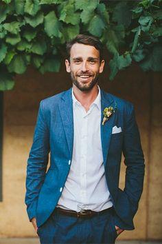 informal navy blue suit - brides of adelaide