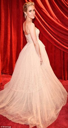 Stealing the show:Kristin Cavallari chose a strapless Pamella Roland Fall 2018 gown...