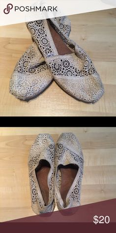 Crochet TOMS Cream crochet TOMS shoes- size 8- slightly worn but still in good condition, and willing to do a bundle with the navy pair in my closet! TOMS Shoes Flats & Loafers