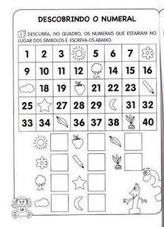 Atividades com calendário e formação de quantidade - número