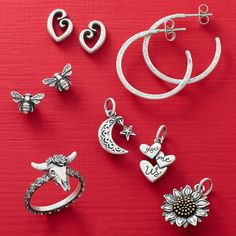Find a new favorite - all under $75! Shop hoops, honey bees, sunflowers and more. - P.S. Shop early to ensure your 🎁 arrive in time for the holidays! James Avery, Tiny Heart, Honey Bees, Initial Charm, Ankle Bracelets, Sunflowers, Gift Guide, Initials, Jewelry Accessories