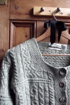 womans clothing cardigan sweater   merino vintage ireland sage green clothing cable chunky traditional. £38.00, via Etsy.