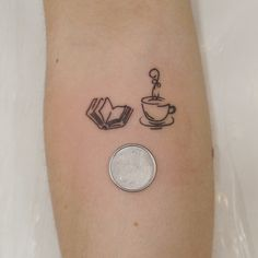 Finelines do #luiatattoo  #coffeetattoo #booktattoo